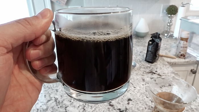 cup of Grizzly Claw coffee