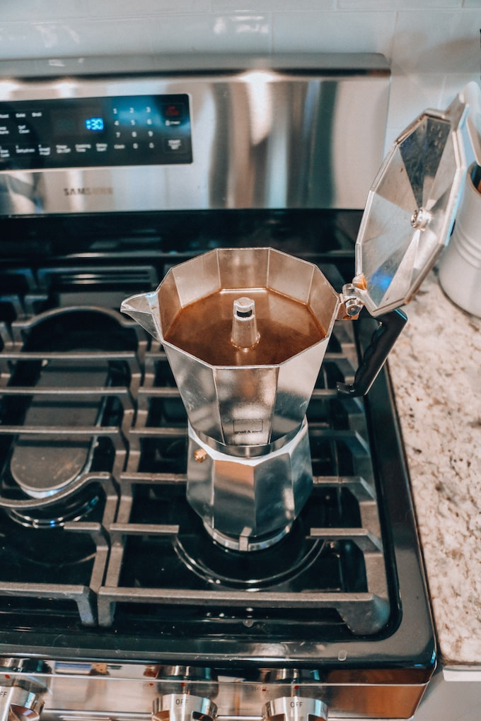 Brewed Coffee in Moka Pot