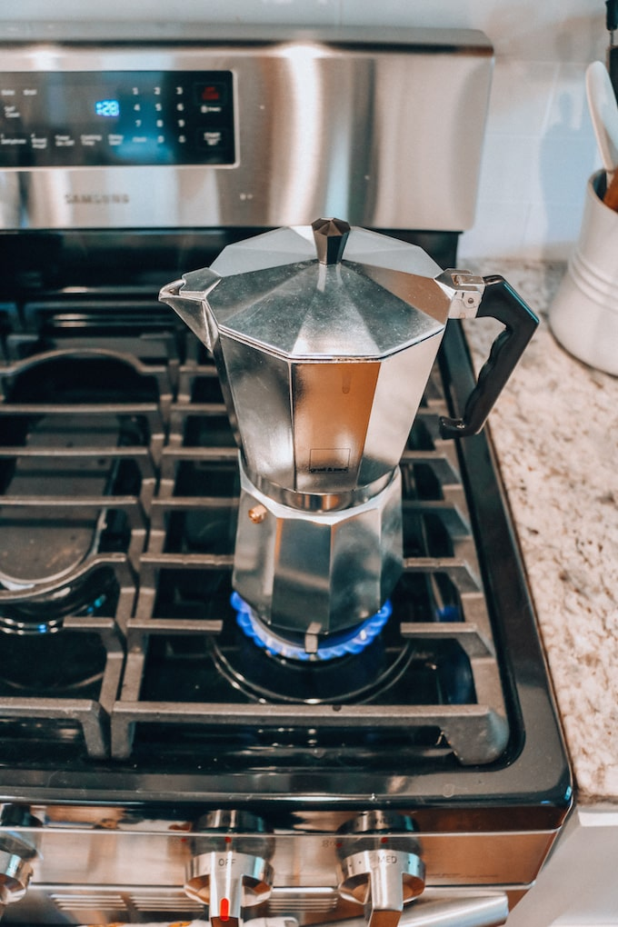 Heating Moka Pot