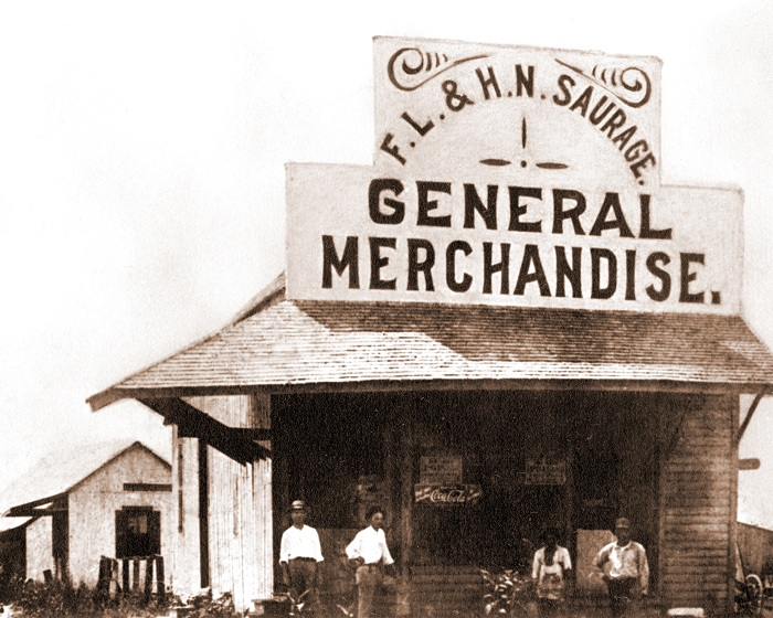 Cap Saurage's first store