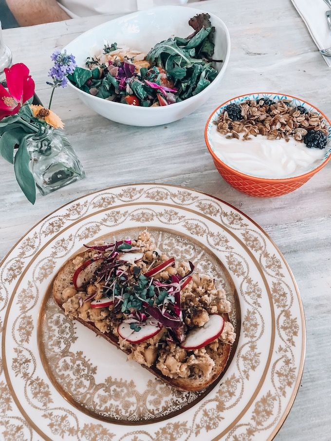 Fiddlehead Fern Chickpea Toast