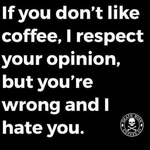 if you dont like coffee i respect