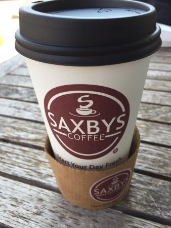 Saxby's coffee cup