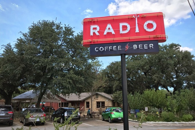 radio coffee and beer