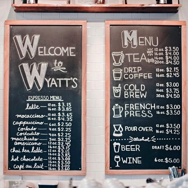wyatts menu